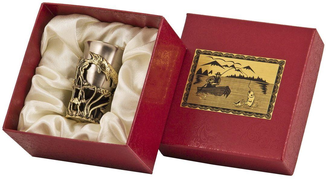 Стопка Арт-студия Классик Щука. СР-01 ЩукаVT-1520(SR)латунь точное художественное литье, внутри- покрытие золотом 0,4591 г.