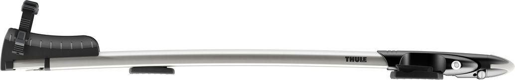Крепление Thule Sprint, для перевозки велосипеда за вилку переднего колеса на крыше автомобиля. 569569Крепление Thule Sprint предназначено для перевозки велосипеда за вилку переднего колеса на крыше автомобиля.Особенности:- Запатентованная зажимная головка AcuTight имеет ограничитель крутящего момента, который щелкает при достижении оптимального крепления велосипедной рамы.- Рекомендуемая опция для транспортировки на крыше велосипедов с рамами из хрупких материалов (например углепластик).- Эластомеры с технологией амортизации дороги (RDT) встроены в крепления багажника, чтобы смягчать удары от неровностей дороги и вибрацию.- Фиксирующий колеса ремень с храповым механизмом и технологией RDT защищает заднее колесо без повреждения обода.- Противооткатные опоры для усиленной защиты и стабильного положения заднего колеса.- Телескопический желоб для колес, регулируемый в соответствии с конкретным велосипедом и транспортным средством.- Запирает на ключ велосипед на креплении, а крепление на багажнике (фиксаторы включены в комплект).- В комплект включены переходники T-Track (20 x 20 мм) для монтажа багажника велосипеда прямо на на Т-образные пазы рейлингов багажника автомобиля.- Соответствие нормам City Crash.Грузоподъемность: 17 кг.Размеры: 127 x 20 x 10 см.Вес: 4,1 кг.Совместимые размеры круглых рам: все.Совместимые максимальные размеры овальных рам: все.Совместимые максимальные размеры колес : 3.