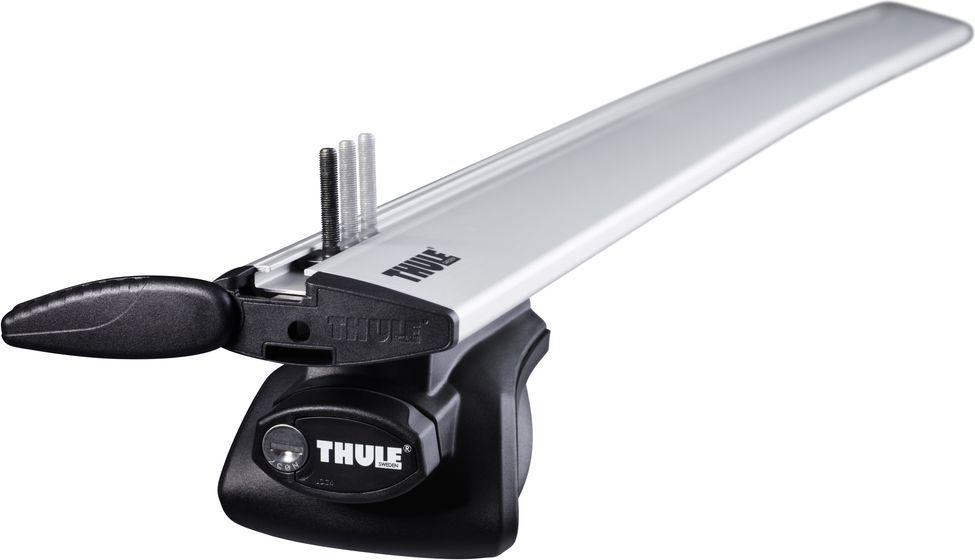 Упоры Thule Rapid Railing, для автомобилей с продольными дугами. 757757Thule Rapid Railing - универсальный и элегантный упор рейлинга, подходящий для самого широкого диапазона размеров рейлинга. Подходит для автомобилей со стандартными рейлингами диаметром 22–55 мм. Резиновая накладка защищает поверхность рейлинга от царапин. Подходит для Thule WingBar, SlideBar, AeroBar, SquareBar и ProBar. Изделие успешно прошло испытание City Crash до 100 кг согласно нормативам ISO.Особенности:Крепление запирается на ключ.Фиксаторы включены в комплект.