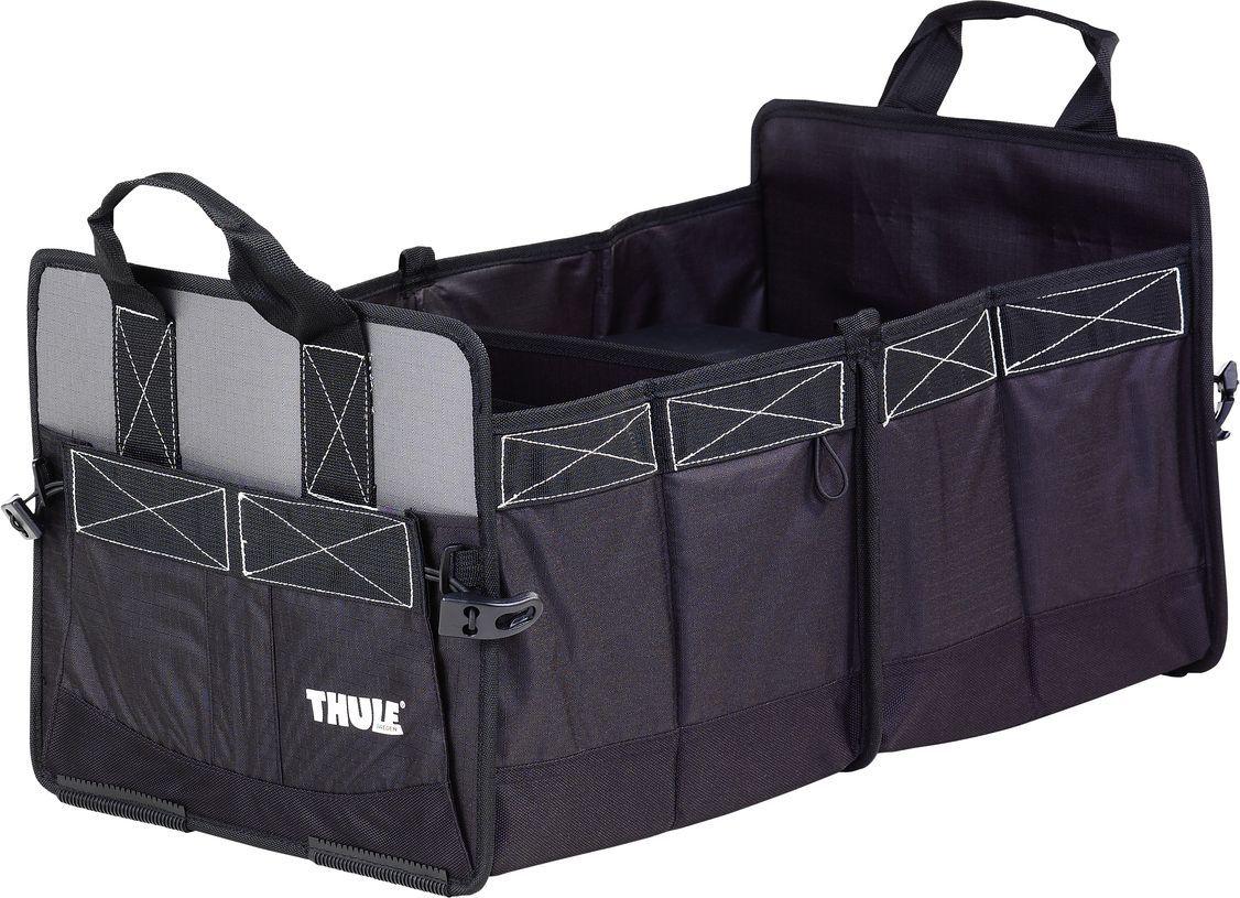 Сумка-органайзер Thule Go Box в багажник автомобиля, 61х33,5х31 см. 8005АС.020023_красный, зеленыйThule Go Box 8005 - Удобный органайзер для багажника и домашнего использования.