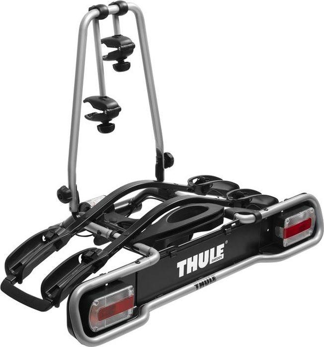 Велобагажник на фаркоп Thule EuroWay Light, для перевозки 2-х велосипедов. 941569Thule EuroRide 941 - Функциональное крепление на два велосипеда, удовлетворяющее всем основным условиям (для двух велосипедов).