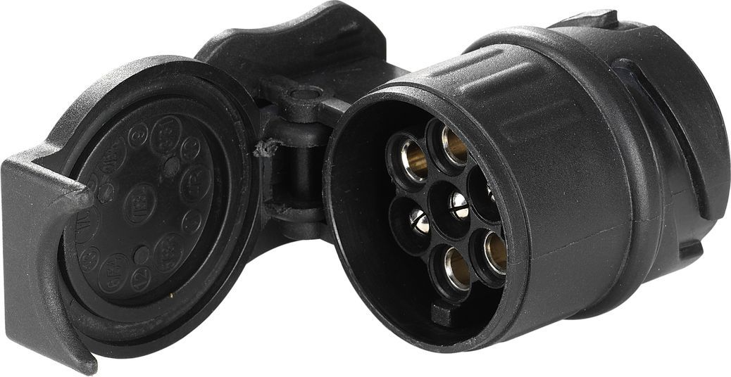 Переходник электрический Thule, для разъема контактов с 13 (автомобиль) на 7 (багажник). 9907984Thule Adapter 9907 - Преобразовывает 13-контактную электрическую розетку в 7-контактную.