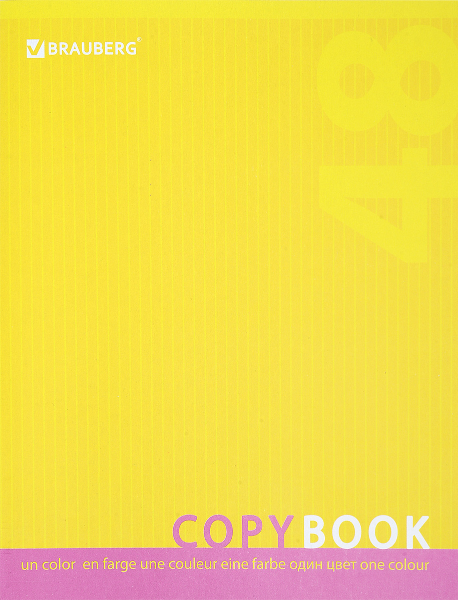 Brauberg Тетрадь One Colour 48 листов в клетку цвет желтый72523WDТетрадь Brauberg One Colour пригодится как школьнику, так и студенту. Обложка изготовлена из импортного мелованного картона. Внутренний блок выполнен из высококачественного офсета в стандартную клетку с полями. Тетрадь содержит 48 листов.