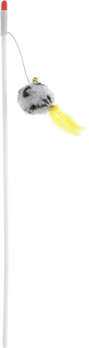 Игрушка-дразнилка для кошек Грызлик Ам Пушистый шарик с колокольчиком и пером, длина 122 см0120710Игрушка-дразнилка для кошек Грызлик Ам Пушистый шарик с колокольчиком и пером способна расшевелить даже самого ленивого питомца, заставляя его двигаться, тем самым способствует развитию его мускулатуры и улучшению координации движений. Игрушка изготовлена из натуральных и экологически чистых материалов, прочная и безопасная как для взрослых кошек, так и для котят.Общая длина игрушки: 122 см.