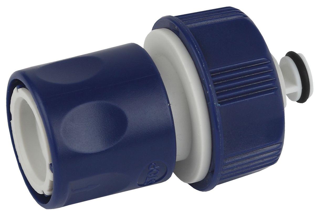Коннектор для шланга Green Apple ЕСО с аквастопом, 19 мм (3/4)А00319Применяется для быстрого и надежного соединения поливочного шланга с насадкой, адаптером, переходником или тройником