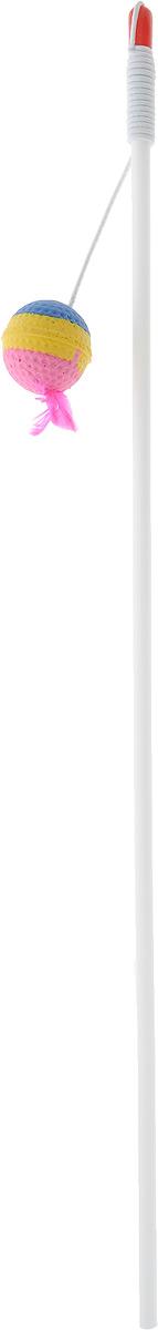 Игрушка-дразнилка для кошек Грызлик Ам Зефирный шарик с пером, длина 113 см0120710Игрушка-дразнилка для кошек Грызлик Ам Зефирный шарик с пером способна расшевелить даже самого ленивого питомца, заставляя его двигаться, тем самым способствует развитию его мускулатуры и улучшению координации движений. Игрушка изготовлена из натуральных и экологически чистых материалов, прочная и безопасная как для взрослых кошек, так и для котят.Общая длина игрушки: 113 см.