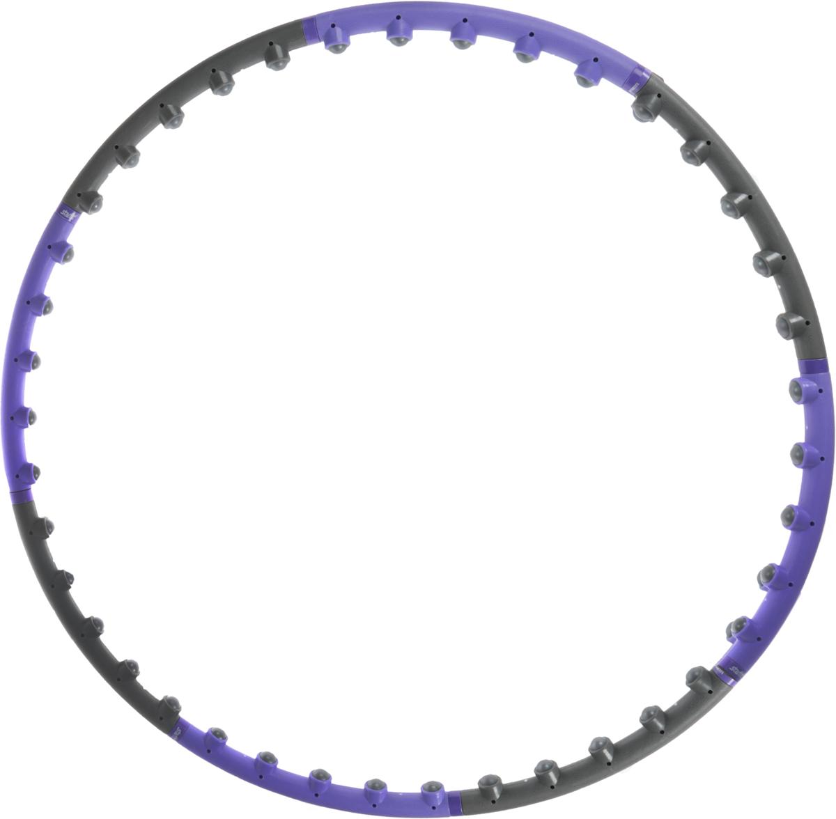 Обруч массажный Starfit, разборный, цвет: фиолетовый, серый, диаметр 98 смSF 0085Star Fit - это массажный разборный обруч от популярного австралийского бренда.Обруч легко собирается и разбирается. Диаметр регулируется, благодаря чемуобруч подходит взрослым и детям. Упражнения с этим обручем сжигают большекалорий, чем с обычным. Улучшается кровообращение, усиливается мышечныйтонус, что приводит к более активному сжиганию жира.Массажный обруч развивает координацию движений, гибкость, силу, чувстворитма, артистичность, укрепляет вестибулярный аппарат. Сжигает подкожныйжир в проблемных участках тела, улучшает состояние кожи в области талии,живота и бёдер. Нормализует работу кишечника. Тренирует и развивает мышцырук, плеч, спины и ног.С помощью обруча можно выполнять большое количество упражнений изгимнастики, и упражнений на растяжку. Массажный обруч удобен и прост виспользовании. Не требует особых знаний и места для занятий.Достаточно вращать обруч 10-20 минут в день и таким образом фигура изменитсяв положительную сторону.