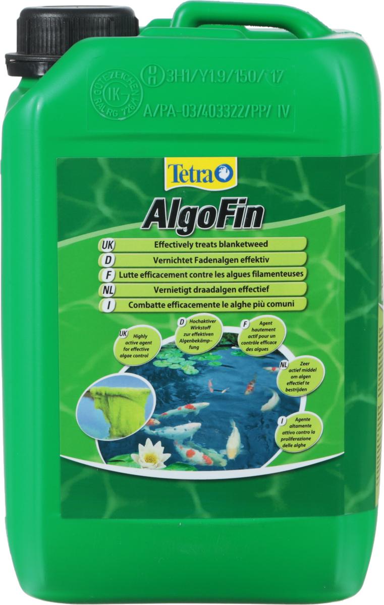 Средство Tetra Pond AlgoFin, против нитчатых водорослей в пруду, 3 л0120710Средство Tetra Pond AlgoFin активно борется с нитевидными водорослями (сине-зеленые водоросли, ряска), обеспечивает чистоту и прозрачность воды в пруду. Действует быстро и безопасно. Действие средства основано на блокировании метаболизма водорослей и их фотосинтеза. Активное вещество препарата действует 2-3 недели, предотвращая тем самым рост водорослей. Использование средства безопасно для полезной микрофлоры водной среды, не вредит растениям и рыбам. Дозировка 50 мл на 1000 л воды.Товар сертифицирован.