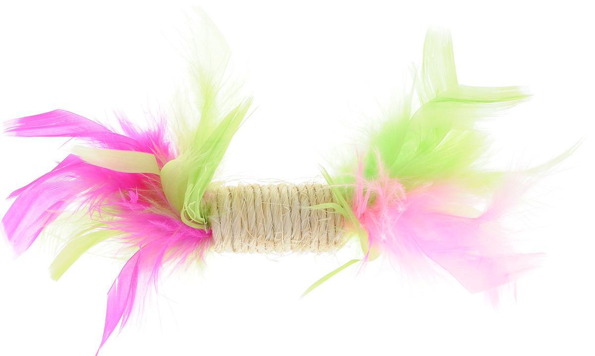 Игрушка для кошек Zoobaloo Когтеточка с пером, цвет: салатовый, розовый, фуксия. 33000120710Игрушка Zoobaloo Когтеточка с пером предназначена для кошек. Эта привлекательная когтеточка изготовлена из сизалевой ткани, украшена яркими перьями и позволит вам избежать появления царапин на мебели! Ваш питомец сможет затачивать когти без вреда интерьеру вашего дома. Кошачья мята делает игрушку отличным аксессуаром для самостоятельной игры.УВАЖАЕМЫЕ КЛИЕНТЫ! Обращаем ваше внимание на возможные изменения в цветовом дизайне.