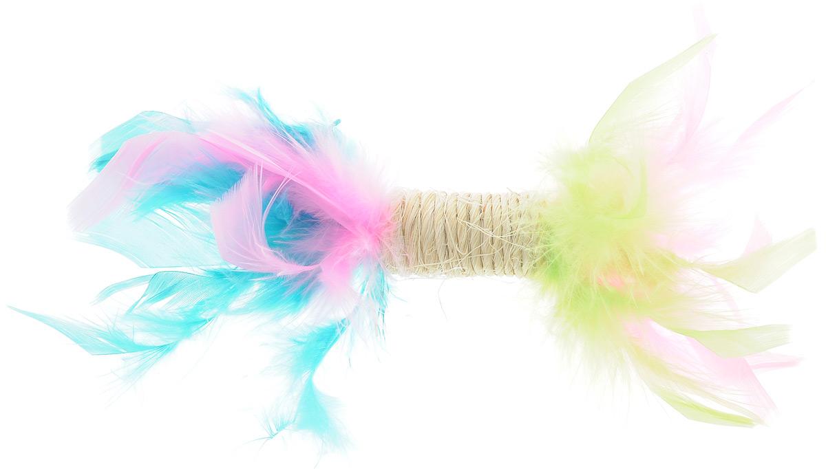 Игрушка для кошек Zoobaloo Когтеточка с пером, цвет: салатовый, розовый, бирюзовый. 33000120710Игрушка Zoobaloo Когтеточка с пером предназначена для кошек. Эта привлекательная когтеточка изготовлена из сизалевой ткани, украшена яркими перьями и позволит вам избежать появления царапин на мебели! Ваш питомец сможет затачивать когти без вреда интерьеру вашего дома. Кошачья мята делает игрушку отличным аксессуаром для самостоятельной игры.УВАЖАЕМЫЕ КЛИЕНТЫ! Обращаем ваше внимание на возможные изменения в цветовом дизайне.