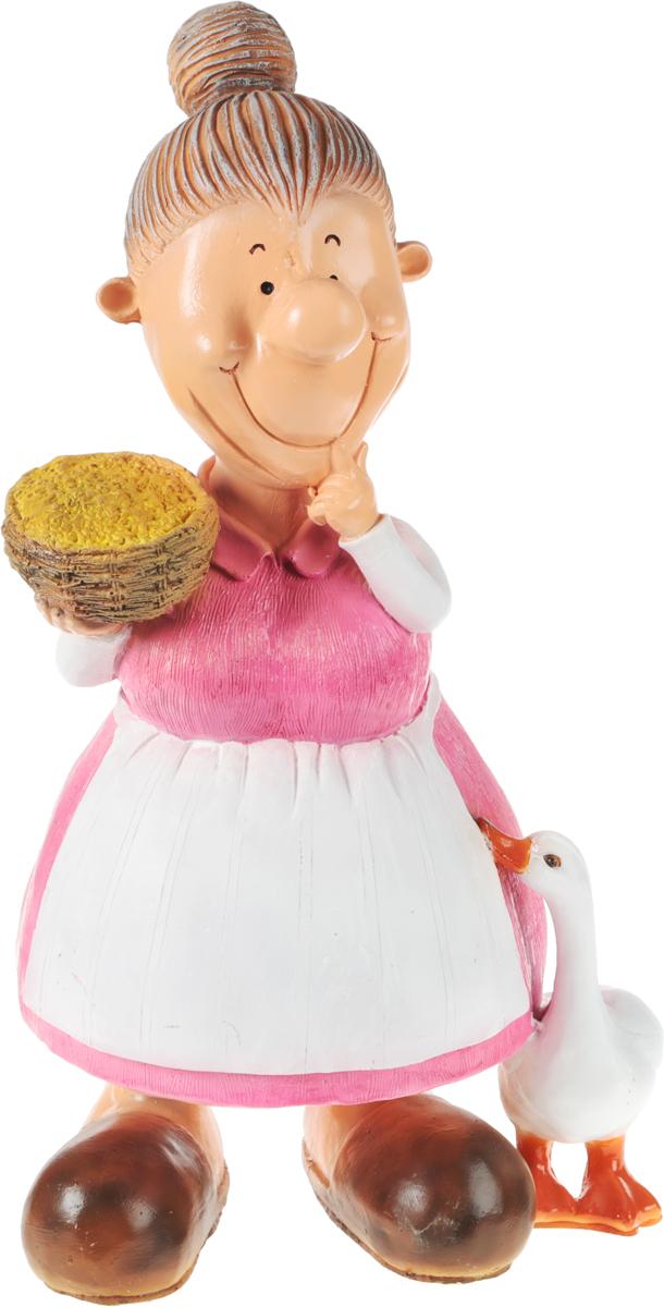 Фигурка садовая Бабка с пшеницей, высота 60 см466431Фигурка Баба с пшеницей для декоративного оформления дома и сада выполнена из полистоуна. Фигурка позволит создать оригинальную декорацию, которая украсит собой ваш сад и добавит в него ярких красок. Высота фигуры: 60 см. Ширина:30 см.