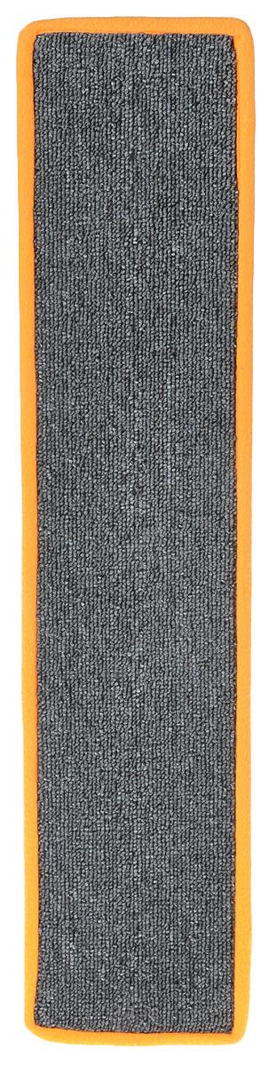Когтеточка Грызлик Ам, с пропиткой, цвет: серый, оранжевый, 67 x 14 см0120710Когтеточка Грызлик Ам предназначена для стачивания когтей вашей кошки и предотвращения их врастания. Изделие выполнено из ДВП и ковролина, края отделаны искусственным мехом. Изделие снабжено специальными отверстиями для крепления. Ковролин обеспечивает естественный уход за когтями питомца. Специальная пропитка привлекает внимание кошки. Такая когтеточка позволит сохранить неповрежденными мебель и другие предметы интерьера. Прямая когтеточка идеально подходит для крепления на стену.