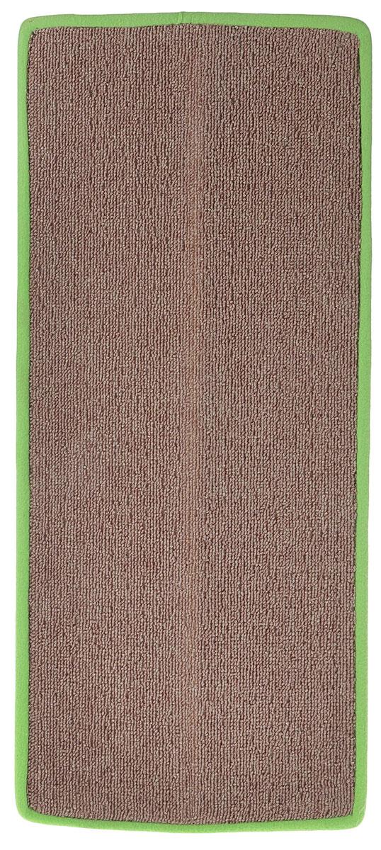 Когтеточка угловая Грызлик Ам, с пропиткой, цвет: коричневый, зеленый, 67 x 17 см12171996Угловая когтеточка Грызлик Ам предназначена для стачивания когтей вашей кошки и предотвращения их врастания. Изделие выполнено из ДВП и ковролина, края отделаны искусственным мехом. Изделие снабжено специальными отверстиями для крепления. Ковролин обеспечивает естественный уход за когтями питомца. Специальная пропитка привлекает внимание кошки. Такая когтеточка позволит сохранить неповрежденными мебель и другие предметы интерьера. Угловая когтеточка может крепиться на смежных поверхностях стен и пола.