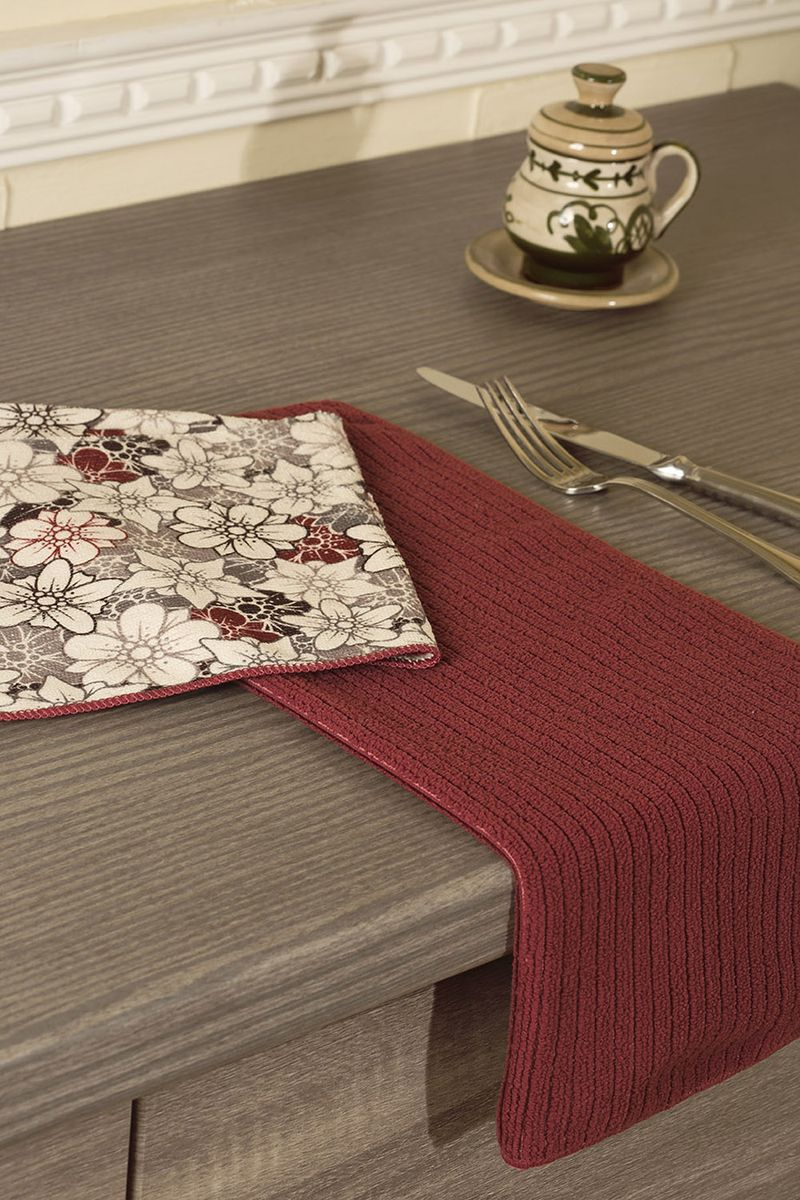 Набор кухонных полотенец Primavelle, цвет: бордовый, 40 х 50 см, 2 шт. НП319404821004900000360Набор универсальных кухонных полотенец из микрофибры. Можно использовать как для рук, так и для посуды или уборки со стола. Полотенца моментально впитывают влагу. Просты в уходе: легко стираются, не теряют цвет и форму после нее, быстро сохнут. Набор состоит из двух полотенец размером 40х50 см. Одно полотенце с рисунком, другое однотонное с фактурой рубчик. Порадуйте себя и своих близких новыми полотенцами для кухни от Primavelle.