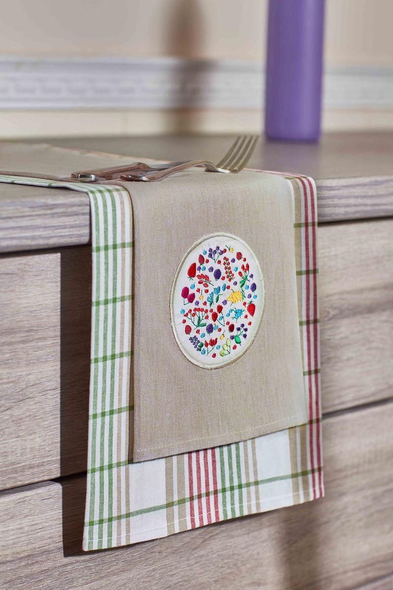 Набор кухонных полотенец Primavelle, цвет: зеленый, 40 х 60 см, 2 шт. НП33740602VT-1520(SR)Кухонный набор из 2-х льняных полотенец - практичная новинка для Вашей кухни. Полотенца легко стираются и стойки к выцветанию.