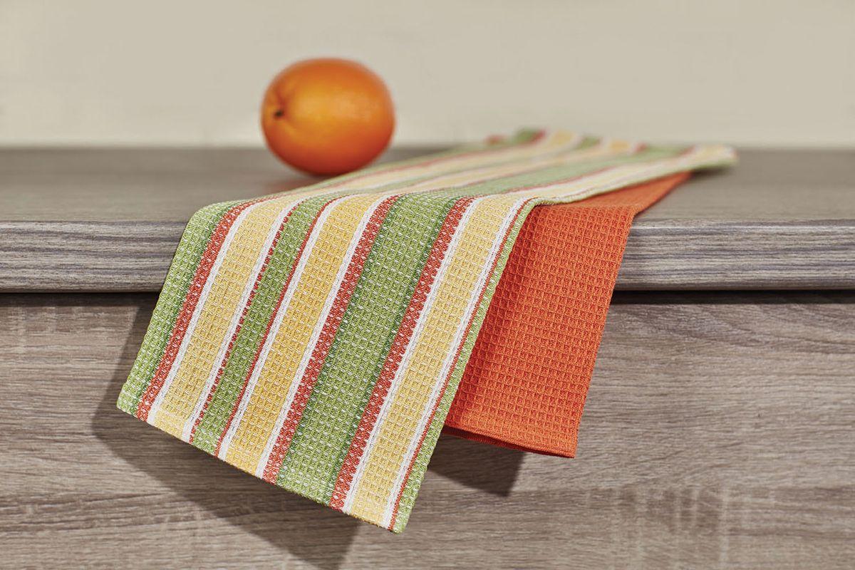 Набор кухонных полотенец Primavelle, цвет: зеленый, 40 х 60 см, 2 шт. НП35540602VT-1520(SR)Кухонный набор из 2-х вафельных полотенец - практичная новинка для Вашей кухни. Полотенца легко стираются и стойки к выцветанию.