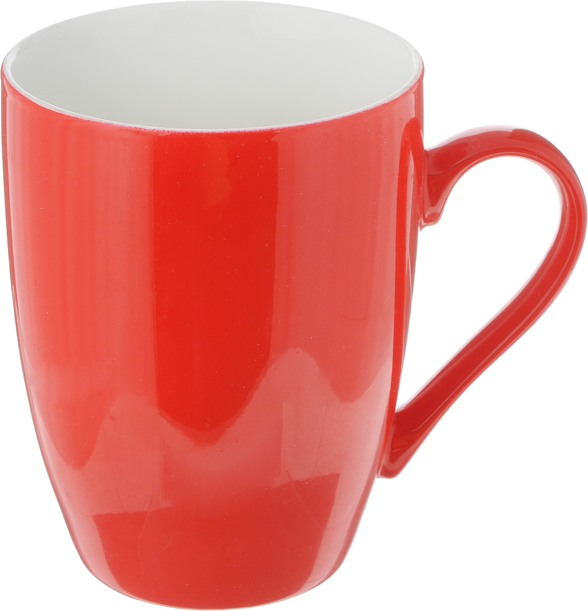 Кружка Доляна Радуга, цвет: красный, белый, 300 мл115510Кружка Доляна Радуга изготовлена из высококачественной керамики. Изделие оформлено ярким дизайном и покрыто превосходной сверкающей глазурью. Изысканная кружка прекрасно оформит стол к чаепитию и станет его неизменным атрибутом.Диаметр кружки (по верхнему краю): 8 см.Высота кружки: 10,5 см.