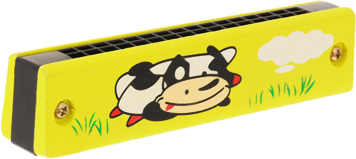 Фабрика Фантазий Губная гармошка Корова цвет желтый
