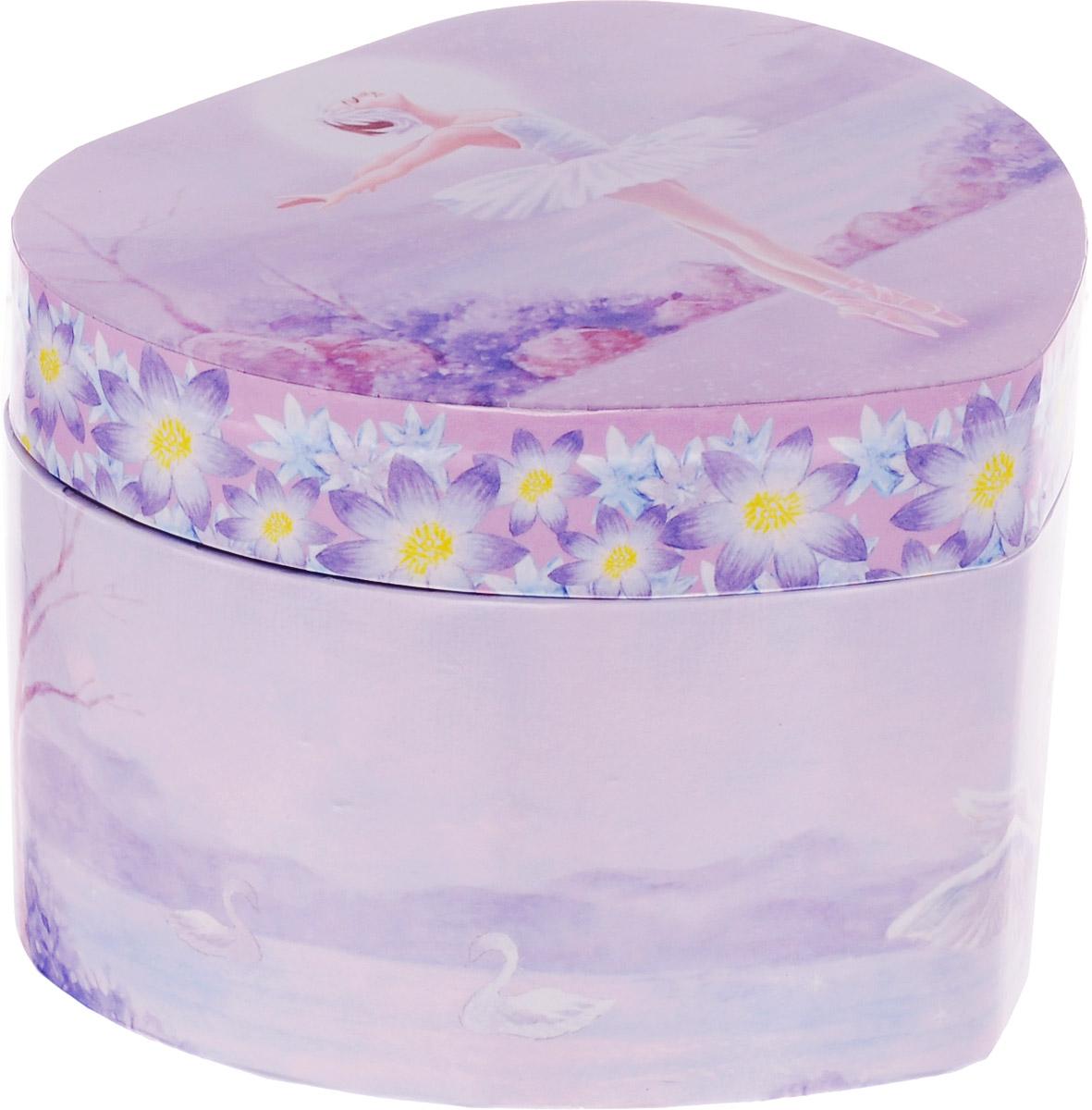 Jakos Музыкальная шкатулка Балерина цвет фиолетовый -  Предметы интерьера