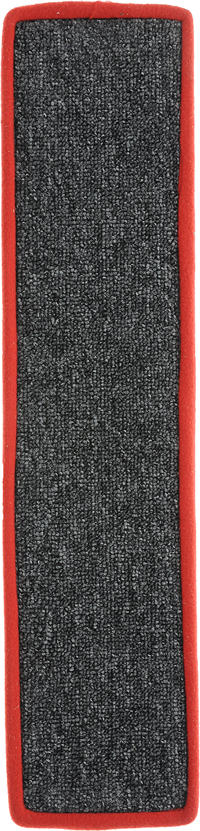 Когтеточка Грызлик Ам, с пропиткой, цвет: красный, серый, 57 х 13 см0120710Когтеточка Грызлик Ам предназначена для стачивания когтей вашей кошки и предотвращения их врастания. Изделие выполнено из ДВП и ковролина, края отделаны искусственным мехом. Изделие снабжено специальными отверстиями для крепления. Ковролин обеспечивает естественный уход за когтями питомца. Специальная пропитка привлекает внимание кошки, что позволяет сохранить неповрежденными мебель и другие предметы интерьера. Прямая когтеточка идеально подходит для крепления на стену.