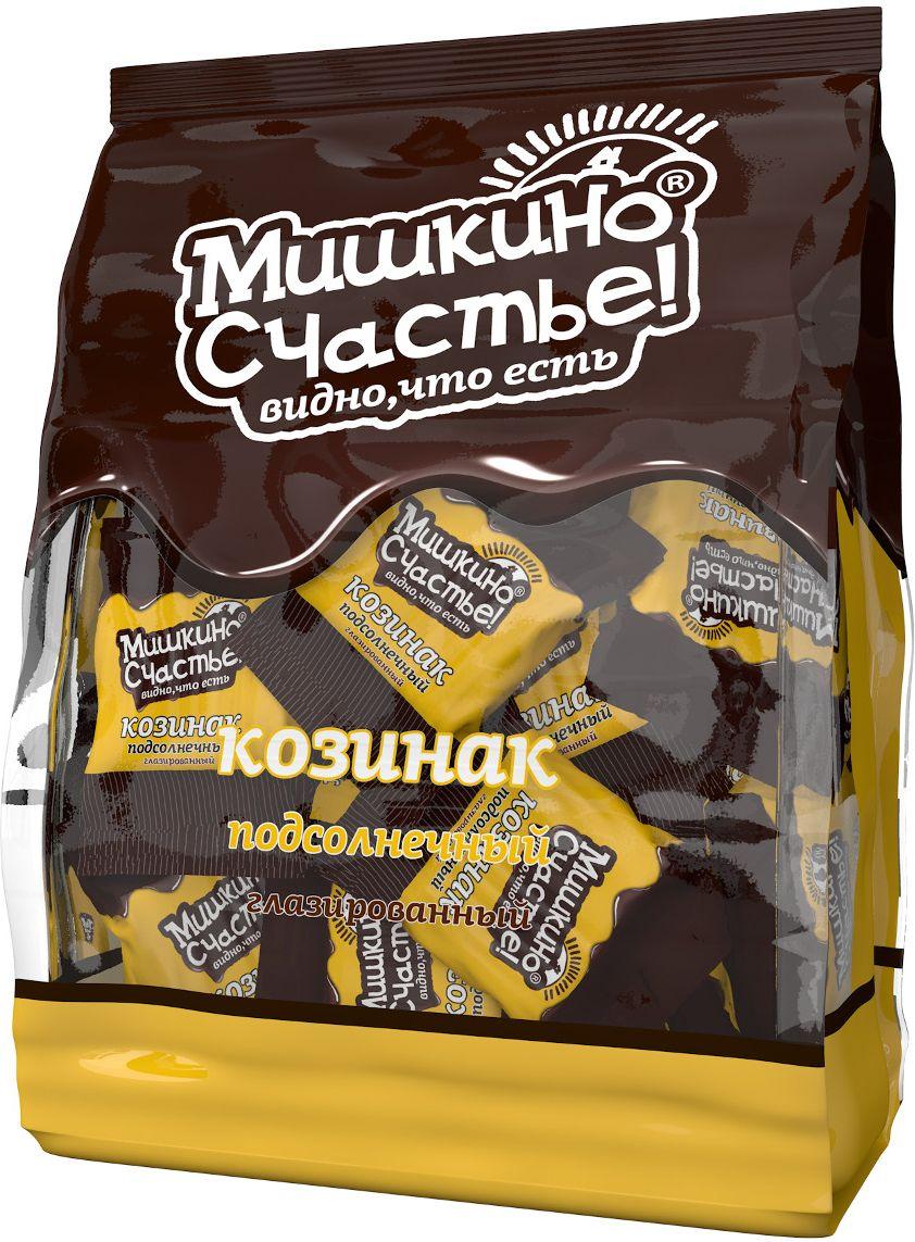 Мишкино счастье конфеты козинак подсолнечный глазированный, 345 г0120710Хрустящие конфеты, покрытые лучшей темной глазурью. Конфеты в удобной упаковке.