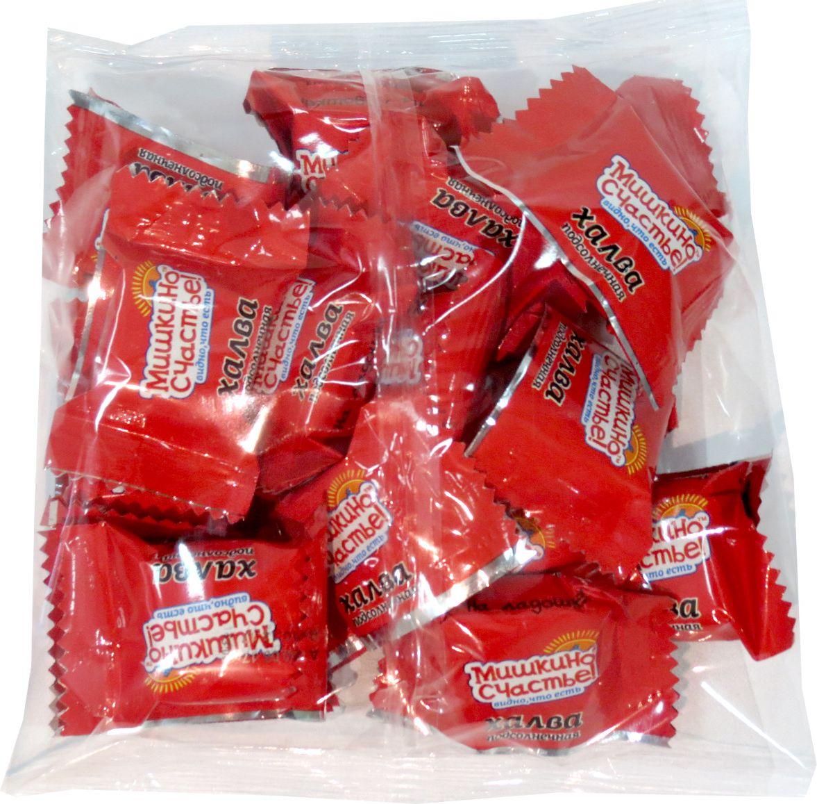 Мишкино счастье конфеты халва подсолнечная, 300 г4640012981308Тающая во рту конфета из нежнейшей халвы. Конфеты в удобной упаковке.
