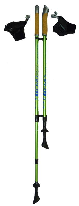 Палки для скандинавской ходьбы CMD Sport, трехсекционные, цвет: зеленый, S-M, длина 70-135 см, 2 штCMD-antishock3-S-MКомпактные 3-секционные телескопические палки для скандинавской ходьбы со съемными темляками и системой антишок CMD Sport. Палки для финской ходьбы с антишоком CMD sport Anti-Shock являются идеальным вариантом для тех, кто хочет приобрести палки для занятий на природе или в отпуске по доступной цене. Компактный размер позволяет перевозить палки в чемодане, так же вы можете подобрать чехол для скандинавских палок.Система Anti-Shock позволяет снизить вибрацию при ходьбе и обезопасить суставы. Ручка из комбинации пластика и натуральной пробки обеспечивает надежность и комфорт при занятиях в любое время года. Быстросъемный темляк добавить комфорта во время тренировки. Телескопические палки CMD Sport 3-х секционные с Anti-Shock комплектуются резиновыми сменными наконечниками для ходьбы по асфальту и твердому грунту. Основной цвет: зеленыйВысота: регулируемая (телескоп.)Размер: 67-135 смСостав: алюминиевый сплавРучка: PP with cork (полипроп./пробка)Темляк: ComFit C, съемныйРазмер темляка: S/M или L/XLНаконечник: Несъемный металлический для грунтаНасадка: резиновый башмакНе подлежит обязательной сертификацииСрок службы 5 летГарантия на палки для скандинавской ходьбы действует в течение 30 дней с момента покупки, распространяется только на древко палок, не распространяется на комплектующие принадлежности (темляки, наконечники). Гарантийным случаем не является:- неисправность, возникшая по вине Покупателя (неправильная эксплуатация, несоблюдение техники скандинавской ходьбы, механические повреждения и т.п.). - повреждение/утеря/износ комплектующих частей, в том числе: темляки, наконечники.