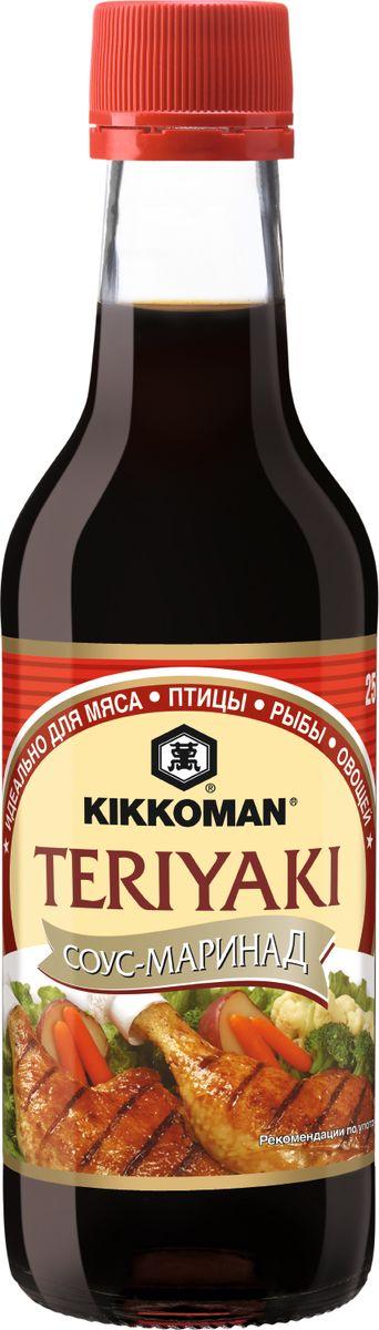 Kikkoman соус-маринад Teriyaki, 250 мл0120710Классический продукт бренда Kikkoman (Киккоман) - натурально соевый соус, который превосходно подходит как ингредиент, и как приправа для множества готовых блюд. Он идеально сочетается не только с деликатесами азиатской кухни, но и, например, со спагетти, американскими бюргерами или салатами.Соевый соус Kikkoman (Киккоман) изготавливается традиционным, классическим способом естественного брожения из сочетания 4 натуральных ингредиентов: соевых бобов, воды, пшеницы и соли. Натурально сваренный соевый соус Kikkoman прозрачный, имеет красновато-коричневый цвет и незабываемый, легко узнаваемый приятный вкус.