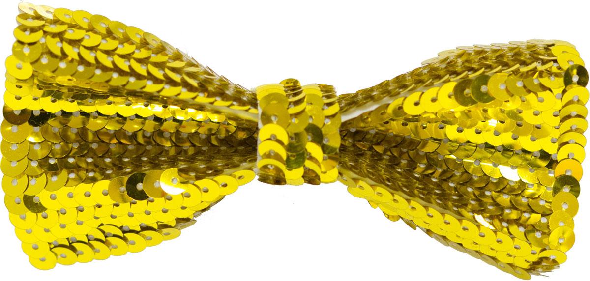 Веселая затея Галстук-бабочка с пайетками цвет золотистый -  Аксессуары для детского праздника