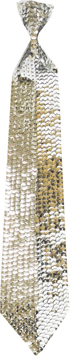 Веселая затея Галстук с пайетками цвет серебристый -  Аксессуары для детского праздника