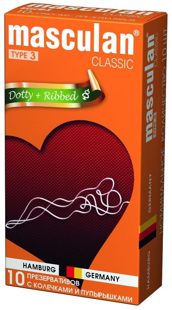 Masculan Презервативы 3 Classic №10, с колечками и пупырышками156-00-16Презервативы естественного розового цвета, анатомической формы. С колечками и пупырышками, для дополнительного стимулирования ощущения женщины и мужчины. Предназначены для предохранения от нежелательной беременности и защиты от заболеваний, передающихся половым путем. Продукция Маскулан по качеству изделия и упаковки является товаром премиум класса, однако позиционируется бренд в среднем ценовом сегменте, предоставляя высокое качество изделия по доступной основной массе населения цене. Презервативы Masculan значительно превосходят требования ГОСТа по многим характеристикам (длина, сила на разрыв и т.д.)