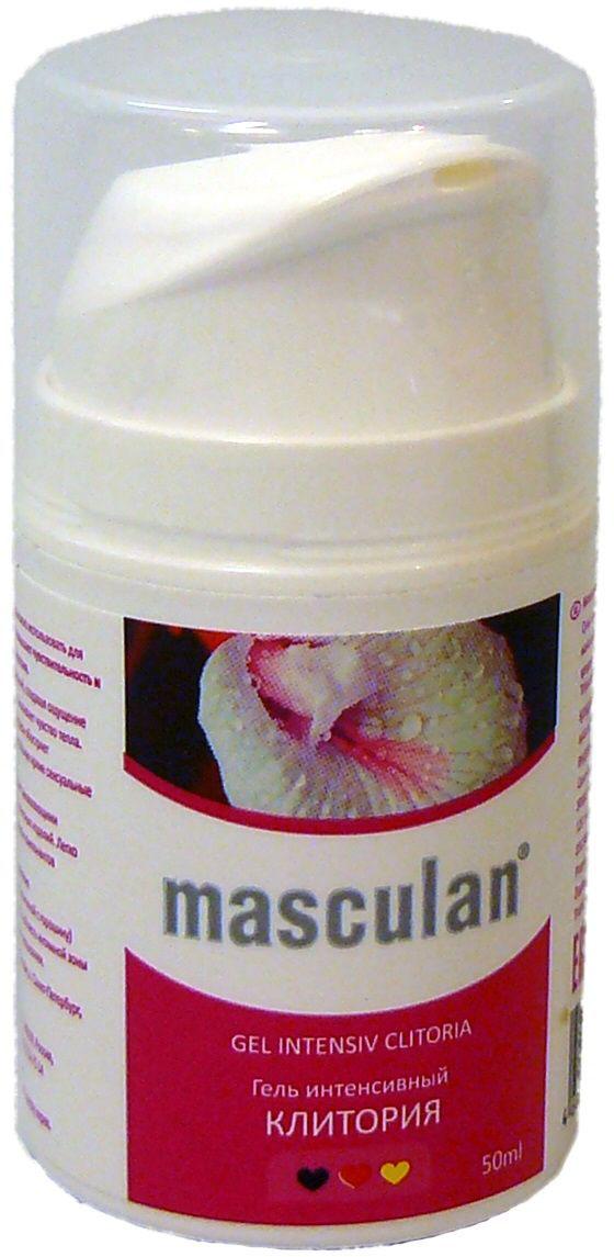 Masculan Гель Клитория, интенсивный, с дозатором, 50 мл13366Гель на водной основе с дразнящим пряным ароматом можно использовать для массажа интимной зоны у женщин и как гель-смазку. Безопасный и нетоксичный гель повышает чувствительность и позволяет усилить возбуждение и яркость женского оргазма.Ментиллактат стимулирует рецепторы нервных окончаний, создавая ощущение прохлады, эфирное масло имбиря (в составе натурального ароматизатора) увеличивает приток крови и вызывает чувства тепла.Провитамин В5 в составе геля увлажняет кожу, обладает заживляющими свойствами.Гель 100% совместим со всеми видами латексных изделий.