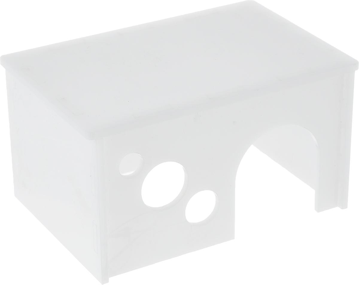 Домик для грызунов Грызлик Ам Вилла, цвет: белый, 12 x 8 x 7 смL007_желтый, бежевый, черныйГрызлик Ам Вилла - это комфортный пластмассовый домик для грызунов. Он послужит надежным укрытием вашему любимцу, а также идеальным местом для сна и отдыха. Домик весьма просторный, имеет оригинальную конструкцию и удобный вход.Этот аксессуар предоставит вашему любимцу минуты отдыха в течение дня и позволит ощутить максимальный комфорт и уют.