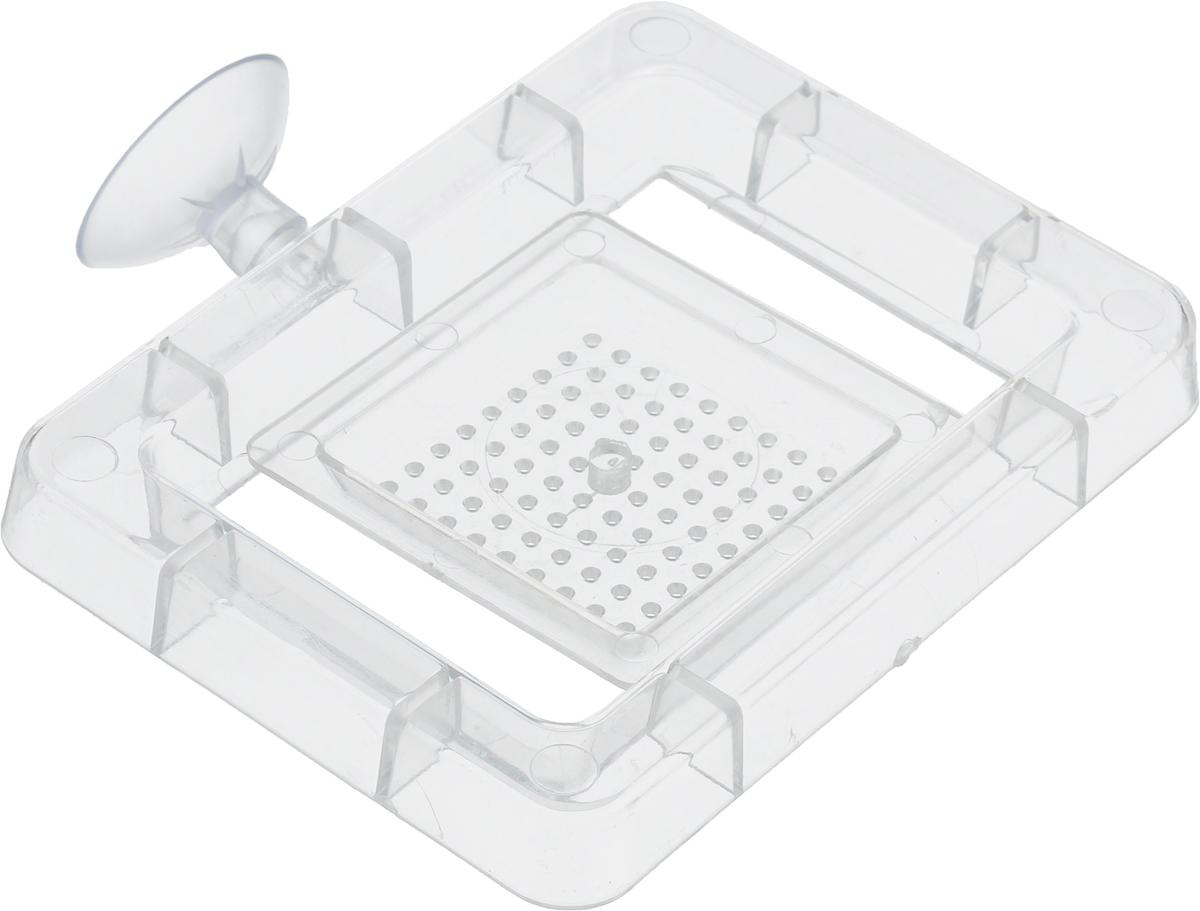 Кормушка для рыб Barbus Квадрат, 10 х 8,5 х 1 см0120710Кормушка для рыб Barbus Квадрат изготовлена из пластика и предназначена для подачи сухого и живого корма. Кормушка крепиться к стенке аквариума на присоску (входит в комплект). Кормушка состоит из двух частей: пластикового каркаса и самой кормушки.Размер каркаса: 10 х 8,5 х 1 см.Размер кормушки: 5 х 5 х 0,5 см.