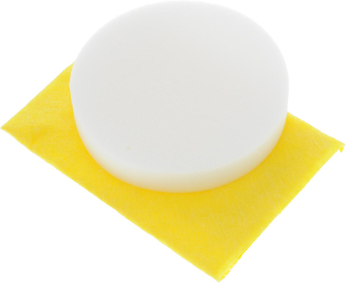 Набор салфеток для полировки автомобиля Runway, цвет: желтый, белый, 2 штIRK-503Набор салфеток для полировки автомобиля Runway состоит из вискозной салфетки и губки. Набор прекрасно полирует автомобиль. Для нанесения полироли используйте вискозную салфетку. Небольшое количество полироли выдавите не салфетку и равномерно нанесите на лакокрасочное покрытие автомобиля. Окончательно располируйте нанесенную полироль губкой. Набор подходит для многократного применения.Размер салфетки: 30 х 30 см.Диаметр губки: 12 см.