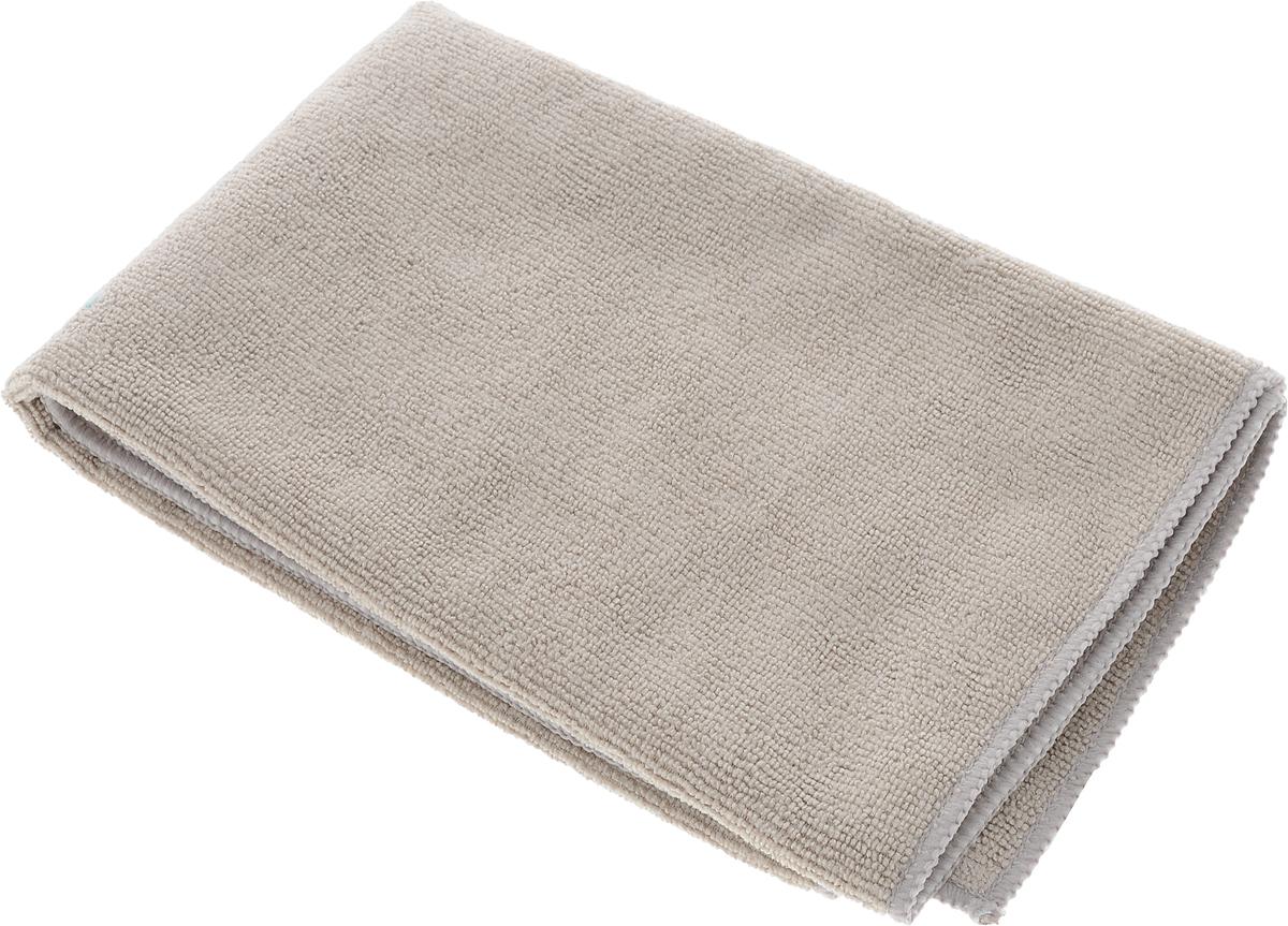 Салфетка чистящая Sapfire Large & Soft, цвет: серый, 60 х 50 смAN-R-01Чистящая салфетка Sapfire Large & Soft выполнена из микрофибры (85% полиэстер, 15% полиамид). Каждая нить после специальной химической обработки расщепляется на 12-16 клиновидных микроволокон. Микрофибровое полотно удаляет грязь с поверхности намного эффективнее, быстрее и значительно более бережно в сравнении с обычной тканью, что существенно снижает время на проведение уборки, поскольку отсутствует Чистящая салфетка Sapfire Large & Soft выполнена из микрофибры (85% полиэстер, 15% полиамид). Каждая нить после специальной химической обработки расщепляется на 12-16 клиновидных микроволокон. Микрофибровое полотно удаляет грязь с поверхности намного эффективнее, быстрее и значительно более бережно в сравнении с обычной тканью, что существенно снижает время на проведение уборки, поскольку отсутствует необходимость протирать одно и то же место дважды. Салфетка обладает уникальной способностью быстро впитывать большой объем жидкости. Клиновидные микроскопические волокна захватывают и легко удерживают частички пыли, жировой и никотиновый налет, микроорганизмы, в том числе болезнетворные и вызывающие аллергию. Благодаря своей сетчатой структуре, легко удаляет с твердых поверхностей засохшую грязь, смолу и почки деревьев, прилипших насекомых. Протертая поверхность становится идеально чистой, сухой, блестящей, без разводов и ворсинок. Микрофибра устойчива к истиранию, ее можно быстро вернуть к первоначальному виду с помощью машинной стирки при малом количестве моющих средств. Состав салфетки: полиэстер (85%), полиамид (15%).Размер салфетки: 60 х 50 см.