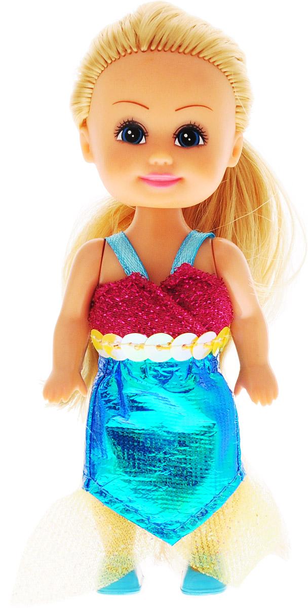 Funville Мини-кукла Волшебная русалочка цвет платья малиновый голубой кукла funville модница 20 см 240105