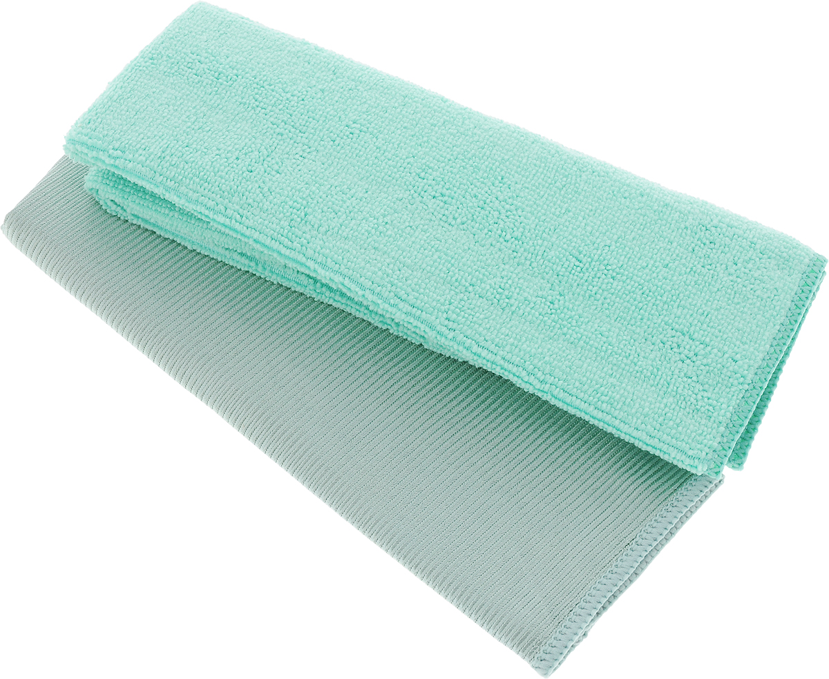 Салфетки для мытья окон Чистюля, цвет: серый, зеленый, 35 х 35 см, 2 шт787502Салфетка Чистюля выполнена из микрофибры (полиэстер и полиамид). Изделие отлично впитывает влагу, не оставляет разводов, быстро сохнет, сохраняет яркость цвета и не теряет форму даже после многократных стирок. Салфетка подходит для мытья окон и зеркал. Протертая поверхность становится идеально чистой, сухой и блестящей. Такая салфетка очень практична и неприхотлива в уходе. Размер салфетки: 35 х 35 см.