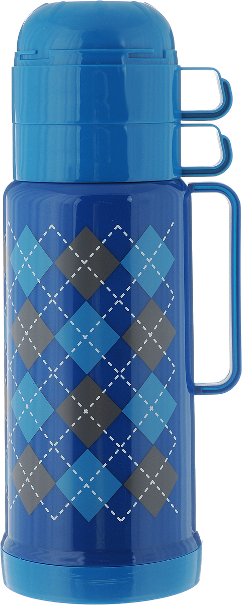 Термос Attribute Tartan, c 2 чашами, цвет: синий, голубой, 1 л115510Термос Attribute Tartan выполнен из высококачественного пластика и оснащен стеклянной колбой. Его температурная характеристика ни в чем не уступает термосам со стальными колбами, но благодаря свойствам стекла этот термос может быть использован для заваривания напитков с устойчивыми ароматами. В комплекте с термосом - две одинаковые чашки. Завинчивающаяся герметичная крышка предохранит от проливаний. Этот термос станет не только надежным другом в походе, но и отличным украшением вашей кухни.Высота термоса (без учета крышки): 27 см.Диаметр основания: 11 см.Диаметр горлышка (по верхнему краю): 6 см.Диаметр чашки: 9 см.Ширина чашки (с учетом ручки): 12 см.Высота чашки: 6,5 см.