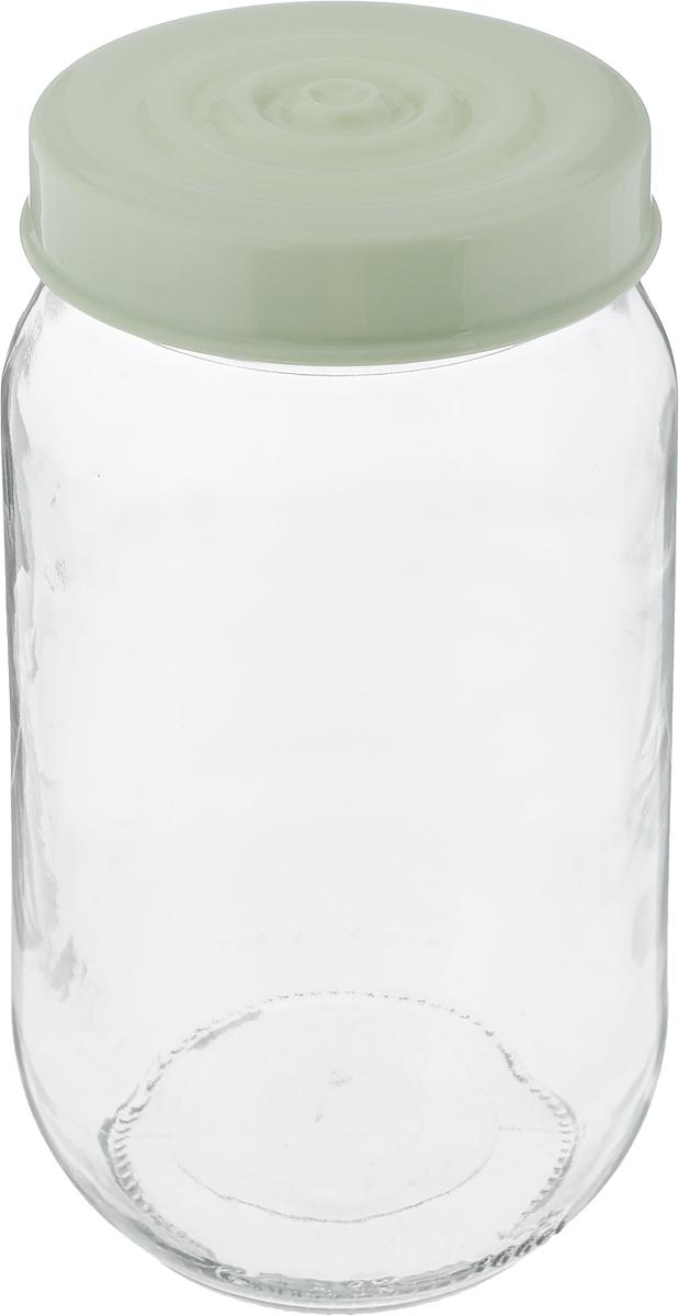 Банка для сыпучих продуктов Herevin, цвет: оливковый, прозрачный, 1 л. 140377-500VT-1520(SR)Банка для сыпучих продуктов Herevin выполнена из высококачественного прочного стекла. Изделие снабжено плотно закручивающейся пластиковой крышкой с рельефом. Прозрачные стенки позволяют видеть содержимое. Такая банка отлично подойдет для хранения различных сыпучих продуктов: орехов, сухофруктов, чая, кофе, специй. Диаметр банки: 8,5 см. Высота банки: 18 см.