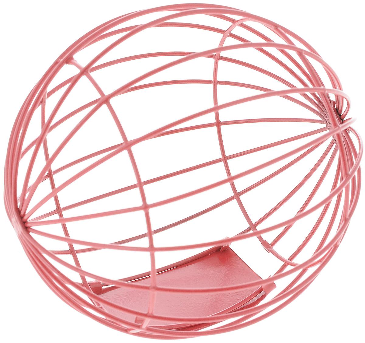 Кормушка для грызунов Nobby Шар, цвет: красный, диаметр 10 смBA457Кормушка для грызунов Nobby Шар изготовлена из металлической проволоки и оснащена дверцей для более удобного заполнения кормом или лакомством. Отлично подходит для сена, травы, листьев салата и лакомств.Кормушка мотивирует животное к игре в награду за еду. Конструкция защитит лакомство от загрязнений.Диаметр шара: 10 см.