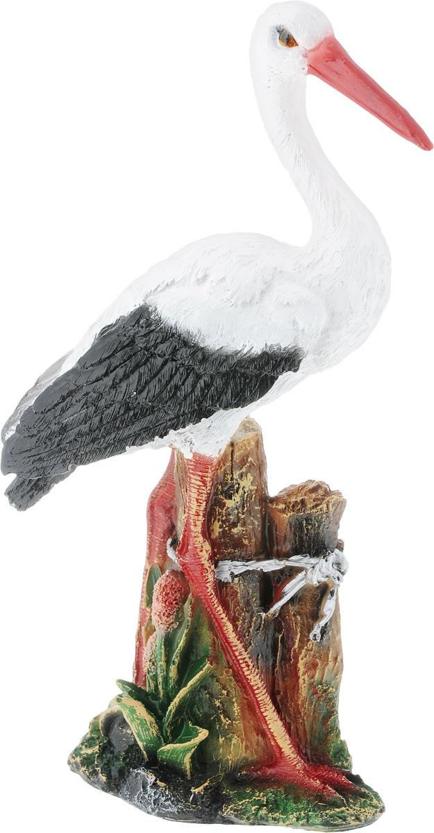 Фигурка садовая Аист в камышах, высота 37 см1092019Фигурка Аист в камышах предназначена для декоративного оформления дома и сада выполнена из полистоуна. Фигурка позволит создать оригинальную декорацию, которая украсит собой ваш сад и добавит в него ярких красок. Размер фигурки: 18 х 9 х 37 см.