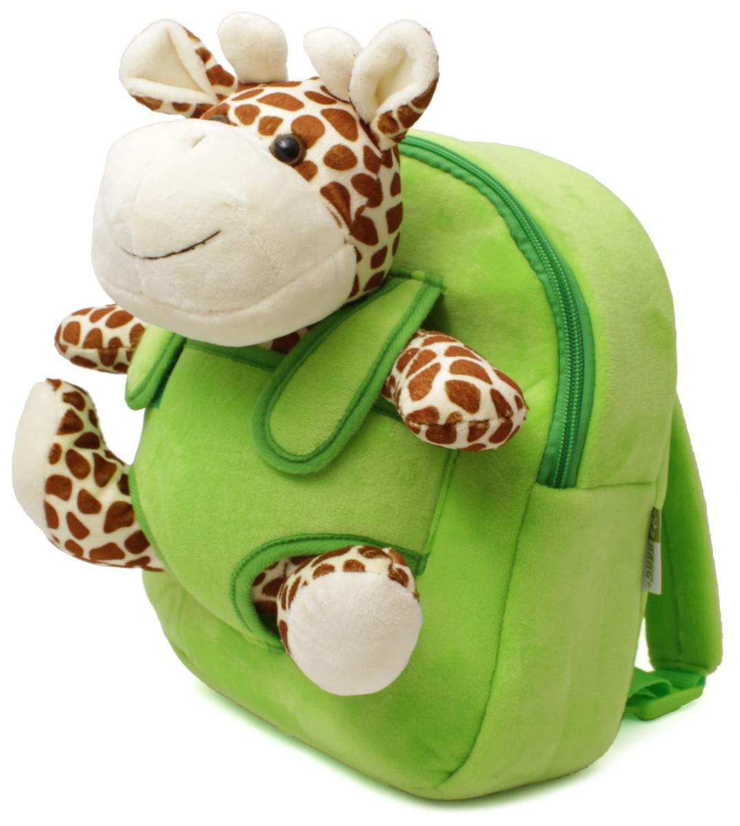 Феникс+ Рюкзак дошкольный Жирафик 4430044300Дошкольный рюкзак Феникс+ имеет одно большое отделение на застежке-молнии.Рюкзак оснащен ручкой для переноски в руках и лямками регулируемой длины. На лицевой стороне рюкзака находится съемная мягкая игрушка в виде небольшого жирафа.Такой рюкзак идеально подойдет для хранения важных вещей, которые так необходимы детям на детской площадке, во время прогулки или на пикнике.