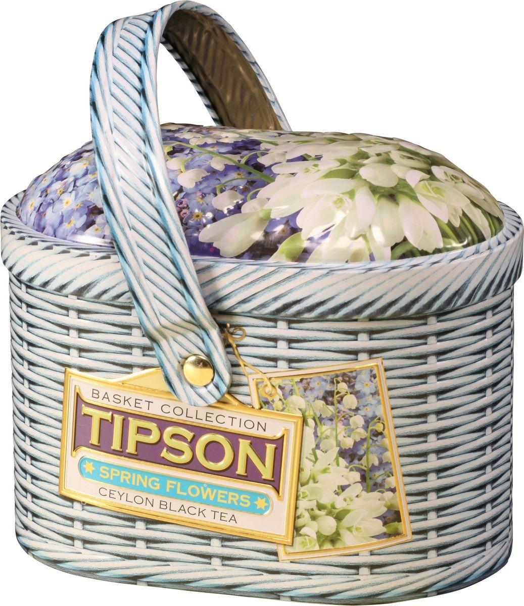Tipson Basket-Spring черный листовой чай с лепестками василька, 80 г (жестяная банка)80132-00Чай чёрный цейлонский байховый листовой с лепестками василька и ароматом лаванды.