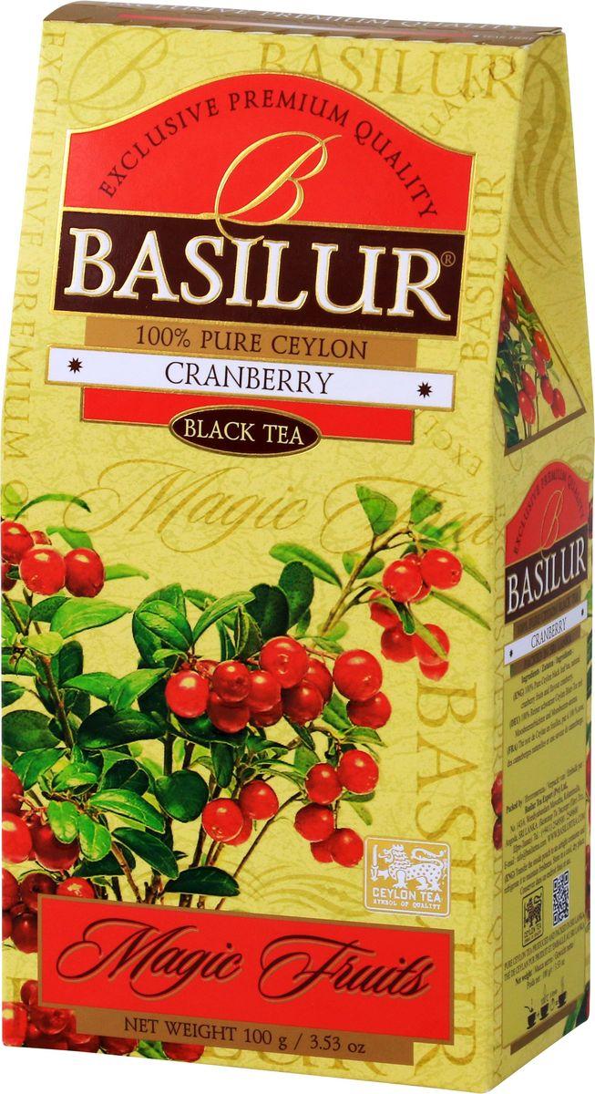 """Basilur """"Cranberry"""" - черный цейлонский чай с натуральными ягодами канадской клюквы. Прекрасная смесь лучших сортов цейлонского чая и натуральных ягод канадской клюквы вызовет восхищение изысканностью вкуса и аромата."""