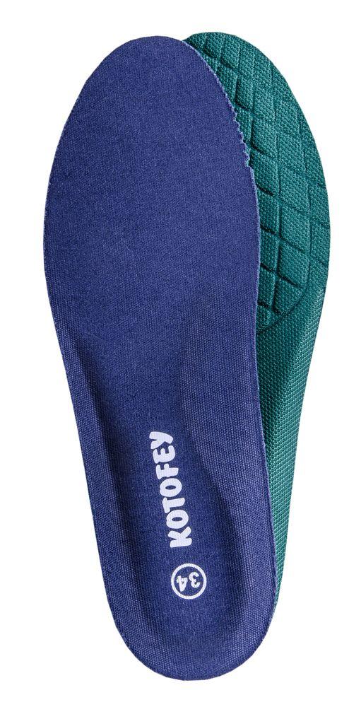 Стельки для обуви Котофей, цвет: синий. 01003005-10. Размер 34MW-3101Хлопковая анатомическая стелька с гигроскопичным пеноматериалом ТМ Котофей