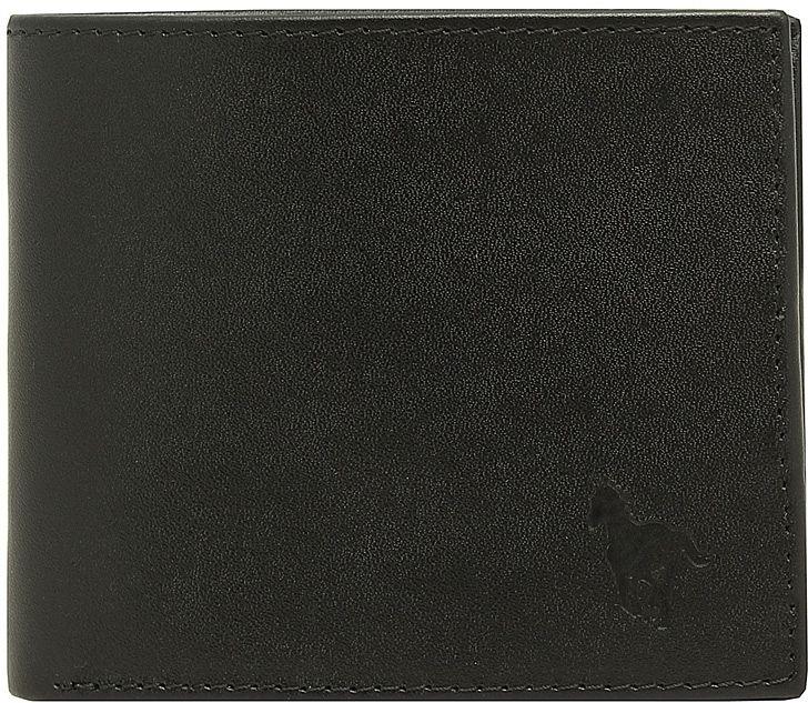 Портмоне мужское Dimanche RFID, цвет: черный. 935INT-06501Защищает от бесконтактной кражи! В производстве изделия в качестве подкладки использован материал, блокирующий считывание персональных данных, которые хранятся на микрочипах RFID в паспорте, банковских картах и ID-картах. Портмоне мужское из натуральной кожи. Внутри два отделения для купюр, дополнительный карман, пять карманов для кредиток/визиток, отделение для мелочи на кнопочке и карман для sim карты. Закрывается на кнопку. Упаковано в подарочную картонную коробку.