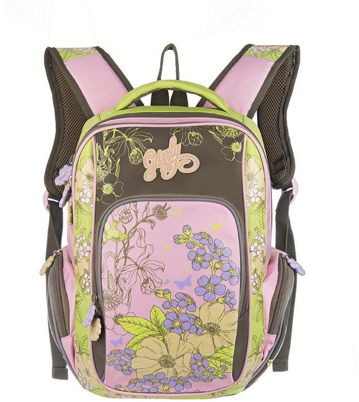 Grizzly Рюкзак школьный цвет бежевый RG-660-2RG-660-2/2Рюкзак школьный, два отделения, объемный карман на молнии на передней стенке, объемные боковые карманы на молнии, внутренний карман, внутренний подвесной карман на молнии, откидное жесткое дно, жесткая анатомическая спинка, мягкая укрепленная ручка, укрепленные лямки, светоотражающие элементы с четырех сторон.