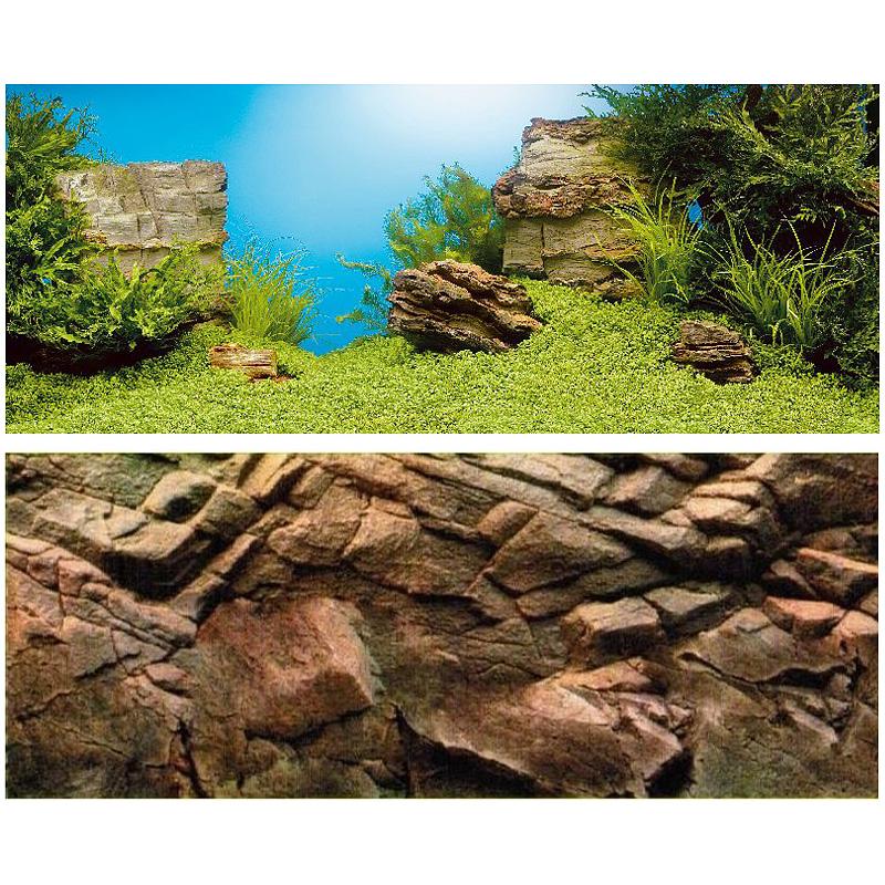 Фон для аквариума Juwel Ландшафт/Камни, внешний, двухсторонний, 150 х 60 см101246Двухсторонний постер Juwel Ландшафт/Камни с изображением подводного ландшафта на передней стороне и скалы с эффектом 3D – на задней стороне – отличный вариант для разнообразного оформления аквариума. Водостойкая пленка просто прикрепляется позади аквариума.Фон подрезается по длине в соответствии с длиной аквариума. Подрезка по высоте производится так, чтобы верхний край заходил под верхнюю, а нижний – под нижнюю рамку соответственно.Размер фона: 150 х 60 см.