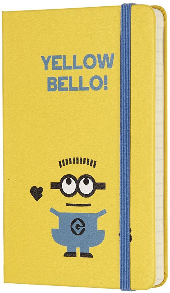 Moleskine Блокнот Миньоны 192 листа в линейку цвет желтый72523WDНовая лимитированная коллекция блокнотов от Moleskine приурочена к выходу на экраны третьей части мультфильма Гадкий Я 3. Блокноты оформлены в характерных цветах: желтый и синий, как всеми любимые желтые Миньоны в своих синий комбинезонах. Неповторимые черты записной книжки Молескин: Прошитый нитками переплет;Практичные скругленные углы;Не желтеющие со временем страницы;Быстро впитывающая чернила бумага;Вместительный внутренний кармашек.